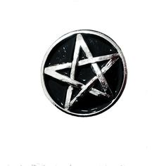 Pentagram Vintage Pin ($8) ❤ liked on Polyvore featuring jewelry, brooches, vintage broach, vintage pins brooches, enamel jewelry, vintage jewellery and pentagram jewelry
