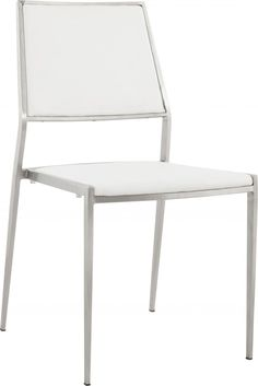 Stoel Possible - Wit - PU Leer - RVS - Kokoon Design