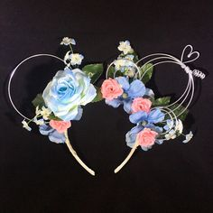 Cinderella Inspired Floral Wire Mouse Ears