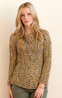 Denver Pullover in Monet Knitting Pattern | InterweaveStore.com