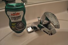 How to Restore a Pitted Chrome Faucet Soaps, Paper and Towelsis free HD Wallpaper. Thanks for you visiting How to Restore a Pitted Chrome F. Cleaning Faucets, Bathroom Cleaning, Cleaning Solutions, Cleaning Hacks, How To Clean Chrome, Bathroom Fixtures, Clean House, Restoration, Domestic Goddess