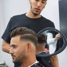 The drop fade haircut is a modern version of the popular classic fade. Just like the name implies, the drop fade haircut is cut low behind the ears, Popular Haircuts, Cool Haircuts, Hairstyles Haircuts, Haircuts For Men, Trendy Hairstyles, Mens Hipster Haircuts, Faded Beard Styles, Drop Fade Haircut, Beard Haircut