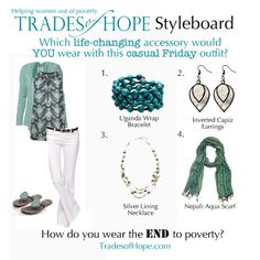 How cute are these Trades of Hope fair trade accessories?! I might wear them all! ;) www.mytradesofhope/jamiedriggers