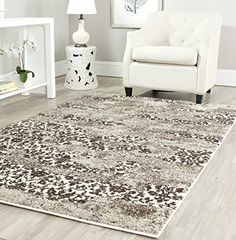 Safavieh Retro Collection RET28651379 Abstract Beige and Light Grey Area Rug 3 x 5 *** Continue to the product at the image link.