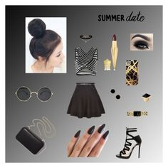 """""""Untitled #16"""" by mkenzirai ❤ liked on Polyvore featuring New Look, Jimmy Choo, Clare V., Kenneth Jay Lane, Chanel, Janna Conner Designs, ASOS, Khristian Howell, Christian Louboutin and summerdate"""