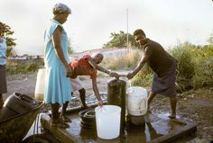 Women collect water from standpipe South Africa, Colour, World, Water, Painting, The World, Water Water, Aqua, Color
