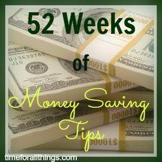 52 Weeks of Money Saving Tips