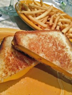 Classic grilled cheese and fries at a local diner - what could be better?