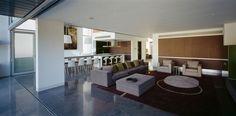 cocina abierta salon moderno amplio espacio comedor ideas