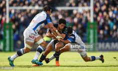 Leinster , Ireland - 15 October Joey Carbery of Leinster is tackled by Antoine Dupont and Rodrigo Capo Ortega, left, of Castres during the European Rugby Champions Cup Pool 4 Round 1 match …. Ireland, Champion, October, Wrestling, Running, Sports, Lucha Libre, Hs Sports, Keep Running