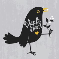 19 ideas for black bird illustration Art And Illustration, Illustrations, Black Bird Fly, Black Bird Tattoo, Vogel Quilt, Blackbird Singing, Bird Quilt, Bird Embroidery, Crows Ravens