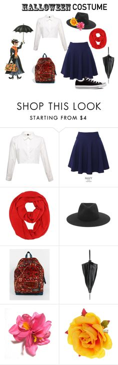 """""""Mary Poppins DIY Costume"""" by to-be-honest ❤ liked on Polyvore featuring QNIGIRLS, rag & bone, Eastpak, Jean-Paul Gaultier, Converse, disneybound and diycostume"""