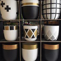 Design Twins - hand painted pots: