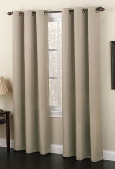 Montego is a solid-weave bark cloth curtain with a antique bronze grommet,,  #Grommet #Curtains