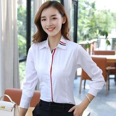 Fashion women long sleeve shirt 2018 New slim elegant blouses shirts ladiesrricdress