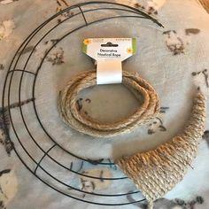 How to Make a Dollar Tree Crescent Moon Wreath - Debbiedoos