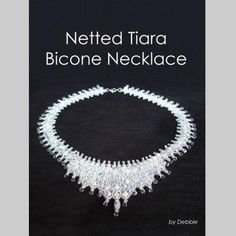 Netted Tiara Bicone Necklace - You can access the tutorial for free! Join http://www.diybeadingclub.com/amember/cart/index/product/id/52/c/