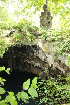 El cenote de Popolá, población que se ubican entre las zonas arqueológicas de Chichén Itzá y Yaxhunah, en Yucatán