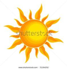 Sun over white - vector illustration - stock vector