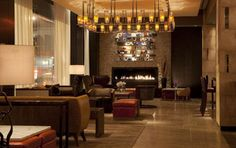 WAN INTERIORS:: InterContinental Times Square Hotel, New York, USA by Jeffrey Beers International in New York