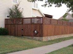 Add Lattice To Extend Height Of Privacy Fence Backyard