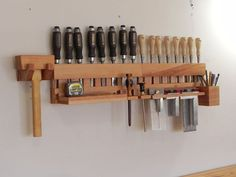 Last time, I posted about the chisel racks I made for safety Week. Since then I've built the accessory racks that mount on the front sliding...