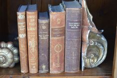 Leather books from Giannetti Home