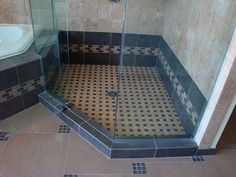 Walk In Shower Designs Doorless Zen Spa Rustic Theme Photos Bathrooms Remodel, Bathroom Improvements, Bathroom Design Inspiration, Shower Tub, Crossville, Bathroom Tiles Images, Tile Bathroom, Shower Tile, Doorless Shower