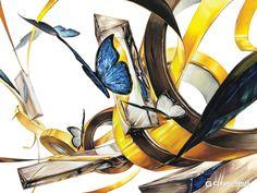 12번째 이미지 Vintage Art, Art Drawings, Digital Art, My Arts, Fantasy, Abstract, Illustration, Artwork, Design