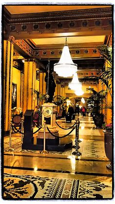 Foyer of the Roosevelt Hotel, New Orleans. Anniversary trip 2015! Can't wait :)