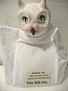 100A series Owl hand puppet with vinyl head.  Purchase March 27 online for $9.99 including shipping.