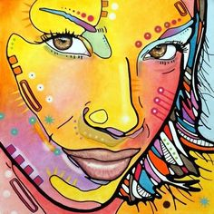 """ORIGINAL Artwork """"Exotica"""" 20x20 On Canvas• Dean Russo Art PopGirls Vintage 2009 #PopArt"""