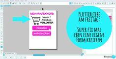 Design // tintenelfe.de Plotter Silhouette Cameo, Silhouette Studio, Form, Super, Bar Chart, Blog, Design, Friday, Love