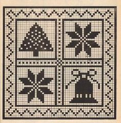 Crochet Patterns Filet, Crochet Motif, Crochet Doilies, Free Crochet, Cross Stitch Patterns, Wiggly Crochet, Fillet Crochet, Christmas Knitting, Crochet Christmas Blanket