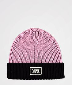 Bring vibrance into your cold weather wardrobe with the Vans Falcon valerian beanie. With a two tone construction in purple and black highlighted by a large logo patch on the front cuff, this beanie is sure to elevate your cool weather style. Black Highlights, Beanies, Purple And Black, Cold Weather, Patches, University, Vans, Construction, Socks