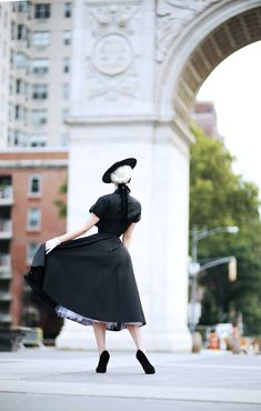 Today we're back at one of my favorite parks, a place so reminiscent of my days in Europe and looks as if it could be mistaken for somewh. Secret In Lace, Lady Jane, Vintage Gloves, Washington Square, Vintage 1950s Dresses, Beauty Pageant, Classic Outfits, Timeless Beauty, Corsets