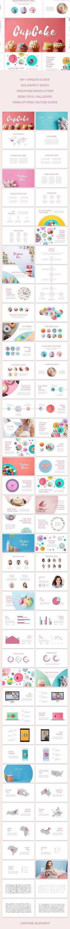 CupCake Keynote Template #marketing #cute • Download ➝ https://graphicriver.net/item/cupcake-keynote-template/18038367?ref=pxcr