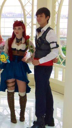 Steampunk Ariel and Eric by lulutetium