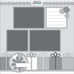 Weekly Sketch Round-Up Feb. 15-19 – Creative Memories Blog Scrapbook Sketches, Scrapbook Pages, Scrapbooking, Scrapbook Layouts, Sketch 4, Creative Memories, It's Your Birthday, Paper Design, Get One