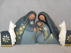 "5"" tall ceramic Nativity set"