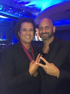 Two Greats! Carlos Vives & Socialfinity Marketing Group's #Latino Official Spokesman Grammy Winner Marlow Rosado at the BMI #LatinAwards #Salsa #SALSANIMAL #SwagLatino #BMILatinAwards