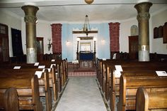 interior of one of Szombathely's synagogues