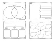 FREE & EDITABLE #thinking #maps downloads from The Kinder Cupboard