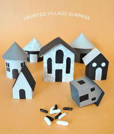 Haunted village treat boxes