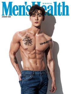 Baekho is the Cover Boy of Men's Health Korea January 2020 Issue Baekho ist das Cover Boy von Men's Health Korea, Ausgabe Januar 2020 Men's Health Magazine, Korean Men, Korean Actors, Impingement Syndrom, Abs Boys, Human Poses Reference, Men Abs, Cover Boy, Nu Est
