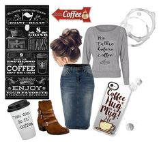 """""""Me & coffee...."""" by rustina-sams on Polyvore featuring Miz Mooz, LE3NO and Casetify"""