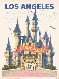 """Disneyland Advert Poster without """"go greyhound"""" sign - seems better to me"""