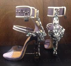 ** RUNWAY Dsquared Dsquared2 Virginia Embellished High Heel Jewel Sandals**