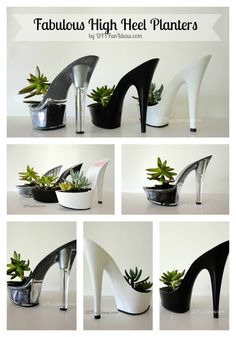 FABULOUS DIY HIGH HEEL PLANTERS Part Deux | http://diyfunideas.com/fabulous-high-heel-planters-part-deux/