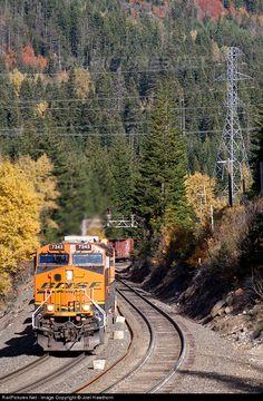 RailPictures.Net Photo: BNSF 7343 BNSF Railway GE ES44DC at East Berne, Washington by Joel Hawthorn